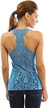 PattyBoutik Women Crochet Lace Racerback Tank Top