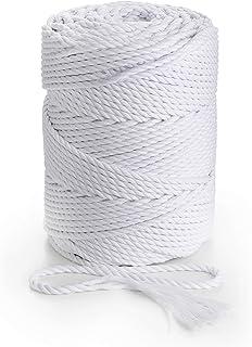 Animal Art Crafts Macrame 10mm Optic White Natural Cotton Rope x 50 Metre Reel