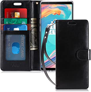 FYY Luxury PU Leather Wallet Case for Samsung Galaxy S8, [Kickstand Feature] Flip Folio Case Cover with [Card Slots] and [Note Pockets] for Samsung Galaxy S8 Black