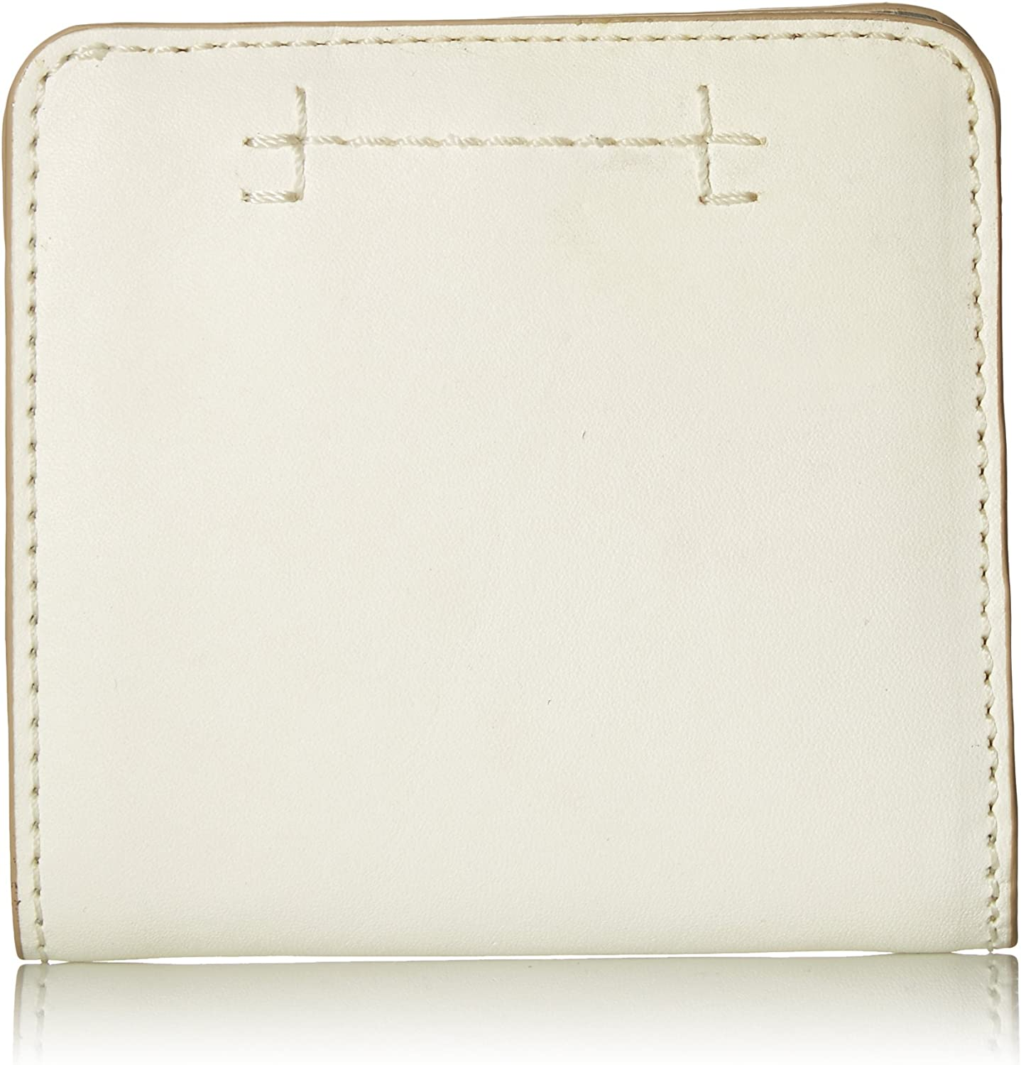 FRYE Women's Carson Small Snap Leather Wallet, White, One Size