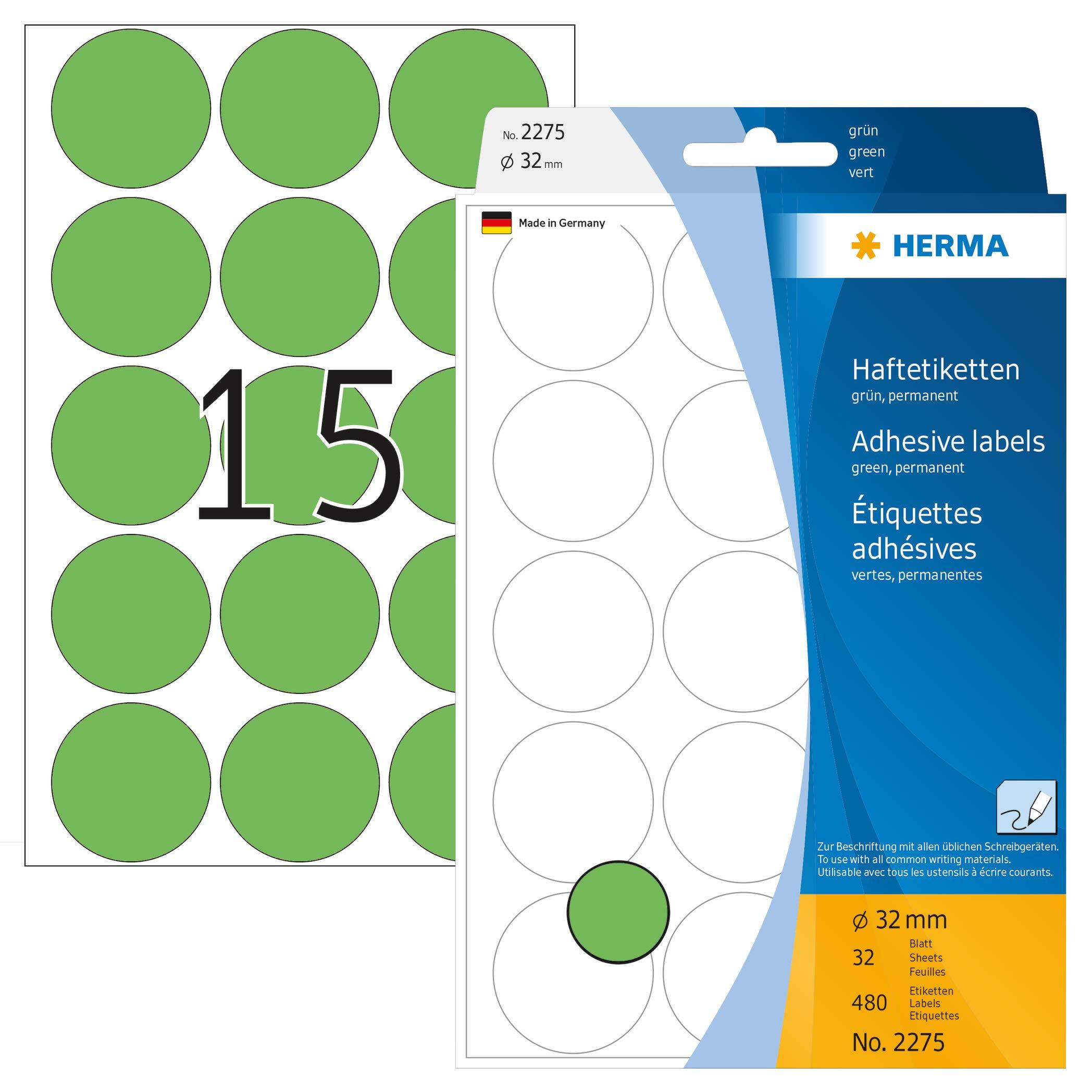 Etiketten A4 grün 70x37 mm Papier matt 480 St.