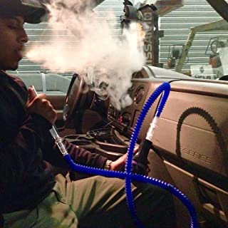 Car Hookah On The Go With Hose Plastic Washable Stretchable Retractable Compressible Shisha Chicha Narghile Ten Flavors to choose from Herbal Hookah On the Go (Pineapple)