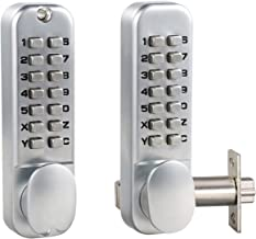 MUTEX Mechanical Keyless Combination Door Lock with Double Keypads MX920 - Ideal for Home/Hotel/Office - Satin Chrome