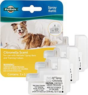 PetSafe Spray Bark Refill, Replacement Cartridges for the Spray Bark Collar, Refill Cartridges Only, Collar Not Included, 3-Pack