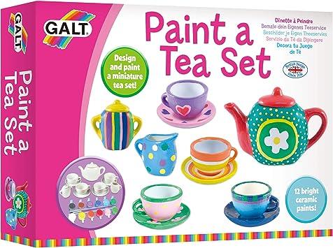 Galt Toys Paint A Tea Set Kids Craft Kits Ages 5 Years Plus Amazon Co Uk Toys Games