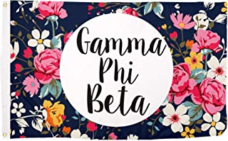 Gamma Phi Beta Floral Pattern Letter Sorority Flag Greek Letter Use as a Banner Large 3 x 5 Feet Sign Decor Gamma phi