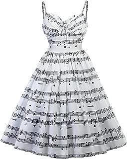 Ninmon Shares Women Spaghetti Strap Party Dresses 1920s Vinatge A-line Midi Dress