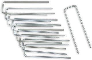 Windhager Agrafes métalliques 10 pièces, ancrage au Sol, Chevilles de Fixation, galvanisé, 4 x 14cm x Ø 4mm, 06299, Argent