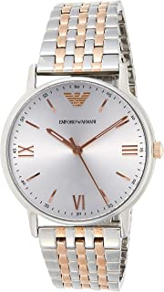 Emporio Armani Men's Quartz Watch, Analog Display and Stainless Steel Strap AR11093
