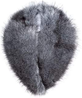 Detachable Faux Fur Collar Wrap for Women - Retro Scarf - Like Real Fur
