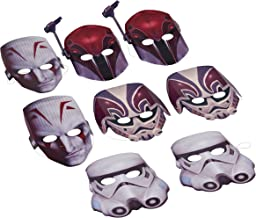 AMERICAN GREETINGS Star Wars Rebels Masks, 8 Count, Party Supplies Novelty