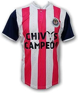 ESF Chivas del Guadalajara Campeon 2017 Men's Soccer Jersey Cancer Awareness Style
