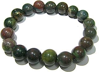 Beautiful Bloodstone Power Beaded Round Bracelet Crystal Gemstone Fashion Accessory Jewellery Men Women Gift Healing Healt...