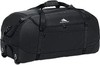 Wheeled Duffel Bag with Cinch Sack, Black, 30-Inch