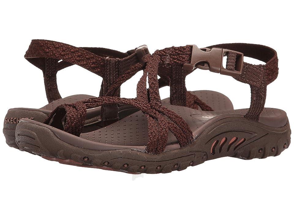SKECHERS Reggae - Bahamas (Chocolate) Women's Shoes, Brown