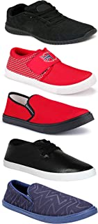 WORLD WEAR FOOTWEAR Sports Running Shoes/Casual/Sneakers/Loafers Shoes for MenMulticolors (Combo-(5)-1219-1221-1140-748-1110)