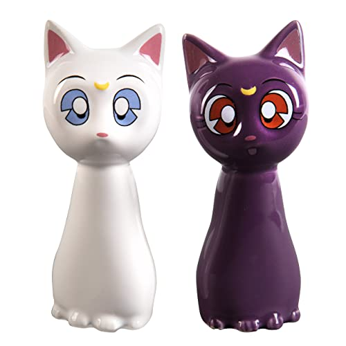 Sailor Moon Ceramic Salt and Pepper Shakers - Luna and Artemis Set For Your Kitchen