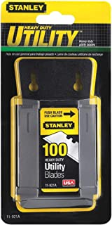 Stanley 11-921A 1992 Heavy Duty Utility Blades w/Dispenser 100 per Package (3 packages 300 Blades)