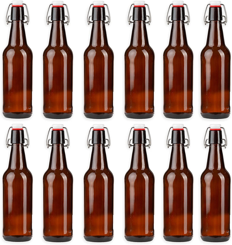Ilyapa 12oz Amber Glass Beer Bottles Outlet SALE for Pack Brewing Superlatite - 12 Home