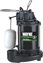 WAYNE CDU800 1/2 HP Submersible Cast Iron and Steel Sump Pump With Integrated Vertical Float Switch (Renewed)