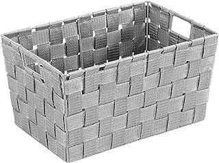 WENKO Panier de salle de bains Adria S gris - Panier de salle de bain, Polypropylène, 30 x 15 x 20 cm, Gris