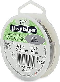 "Beadalon 7-Strand 0.024"" (0.60 mm) 100 ft (30.5 m) Bright Bead Stringing Wire"