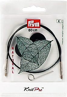 Prym 223980 Corde et accessoires pour aiguilles à tricoter circulaires Natural 40 cm, métal, multicolore