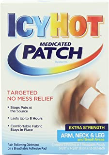 Icy Hot Extra Strength Arm, Neck & Leg Medicated Pain Relieving Patch, 5 count