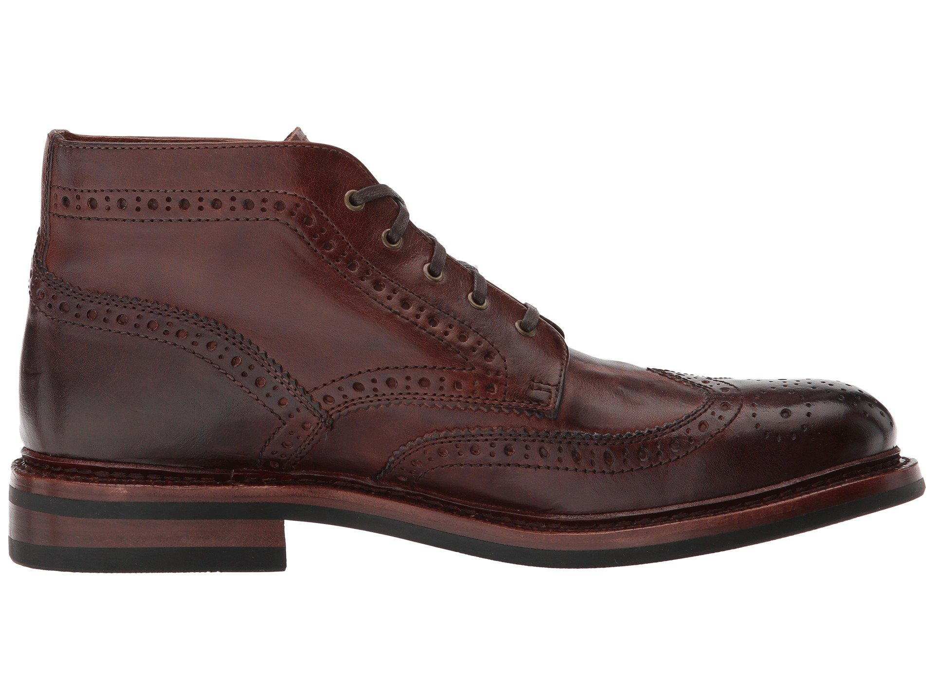 Chukka Brogue Graham Leather Pull Up Frye Cognac WfEqnxW7
