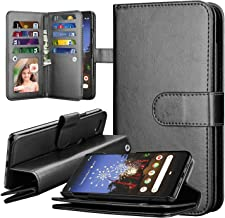 Google Pixel 3a XL Case, Takfox PU Leather Wallet Flip with 9 Card Slots/Holder [Wrist Strap] Magnetic Detachable Cover Wallet Case for Google Pixel 3a XL (2019)-Black