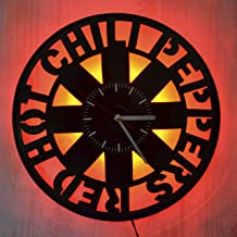 Art Finder Red Hot Chili Peppers Led Light Vinyl Record Wall Clock - Get Unique Bedroom or livingroom Wall Decor - Gift Ideas for Boys and Girls Perfect Element of The Interior Unique Modern Art