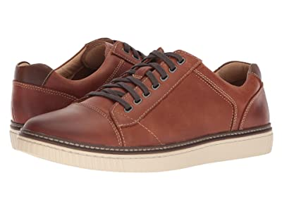 Johnston & Murphy Wallace Causal Dress Sneaker (Tan Oiled Nubuck) Men
