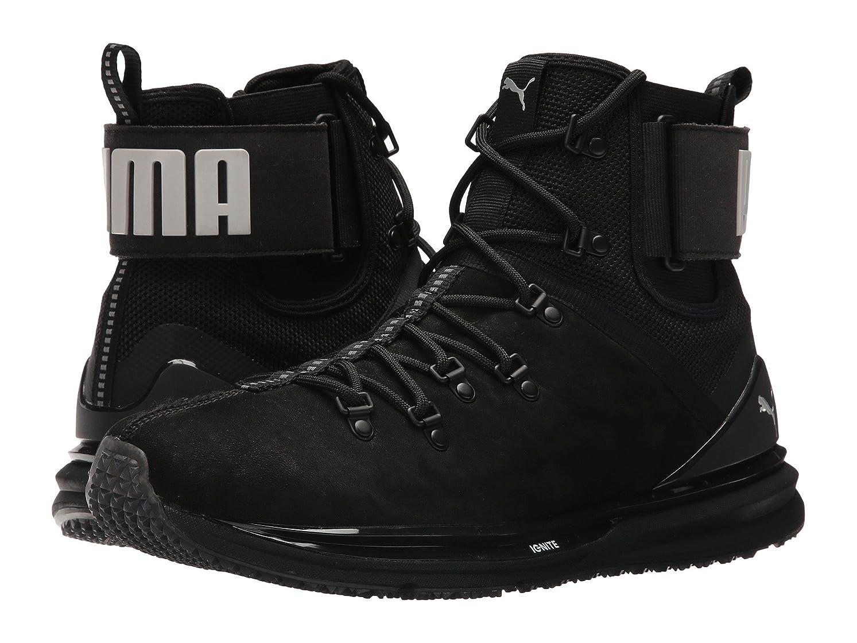 ギャンブルジャニス外観プーマ シューズ スニーカー Ignite Limitless Boot Leather Puma Black [並行輸入品]