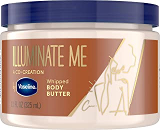 Vaseline Illuminate Me Body Butter Created for Melanin Rich Skin Whipped Provides 24 Hour Moisturization, 11 Ounce