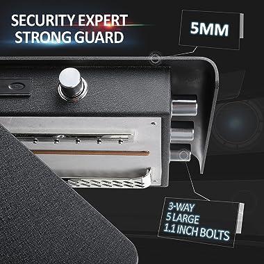 JINXNOBI Biometric Safes for Home, Luxury Security Home Safe Fingerprint Access, Document Safes for Office, Electronic Safe F