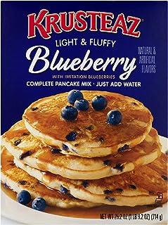 Krusteaz Light & Fluffy Complete Pancake Mix, Blueberry, 25.2 OZ (Pack of 2)