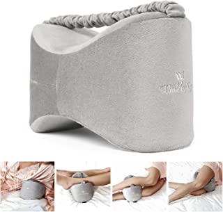 Windsleeoing Orthopedic Knee Pillow with Elastic strap,Comfortable Leg Pillow for Sciatica Relief,Back Pain, Leg Pain, Pregnancy, Hip and Joint Pain,Grey