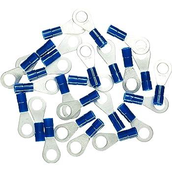 0,15 EUR//Stück 100 Ringkabelschuhe M6 blau mit Schrumpfschlauch Verbinder