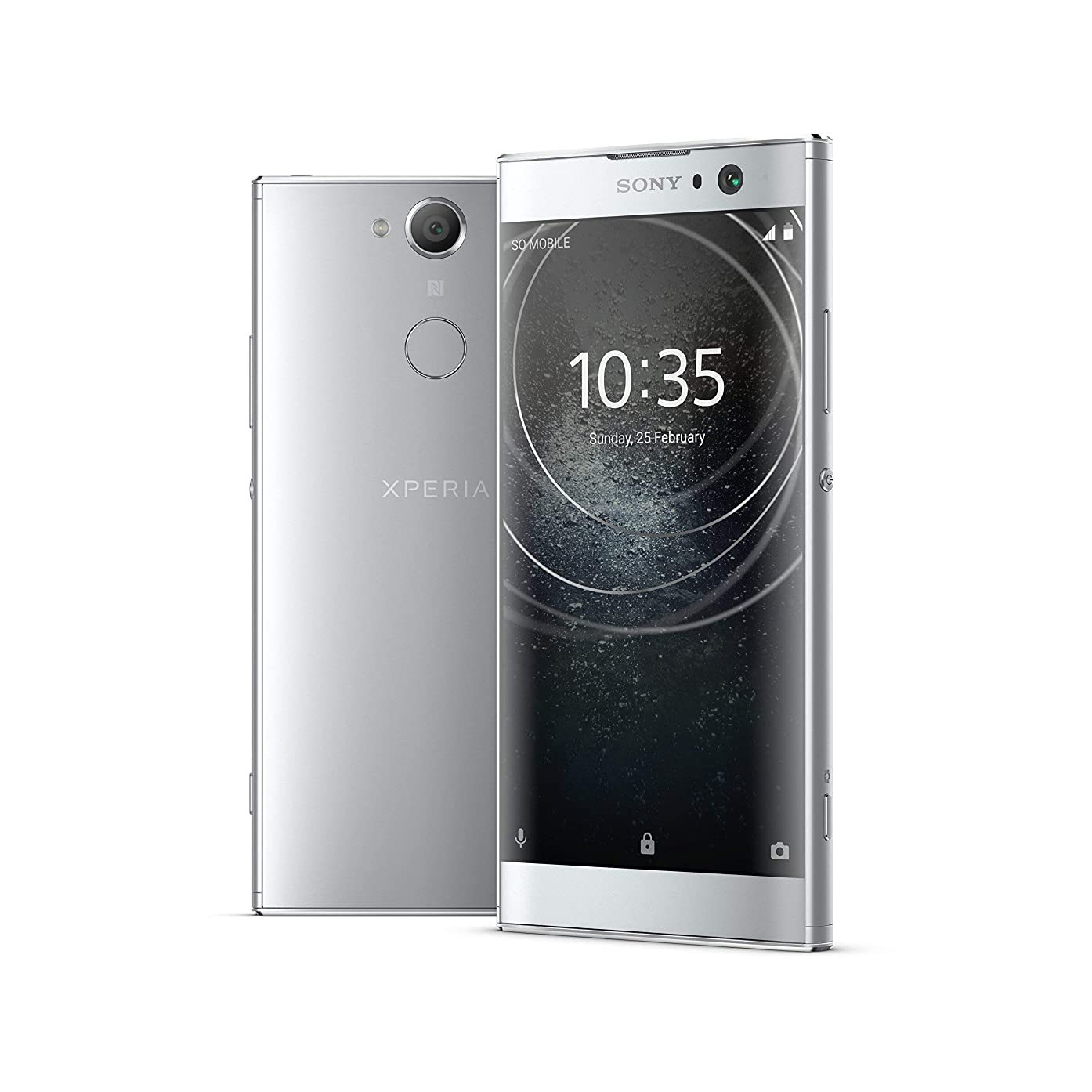 Sony Xperia XA2 Factory Unlocked Phone - 5.2in Screen - 32GB - Silver (U.S. Warranty) (Renewed)