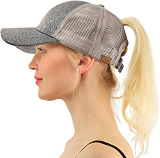 Ponytail Messy Buns Trucker Ponycaps Plain Baseball Visor Cap Dad Hat