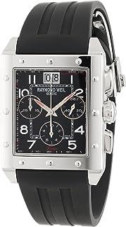 ساعة ريموند ويل تانغو للرجال بمينا اسود وبسوار سليكون - 48811-SR-05200