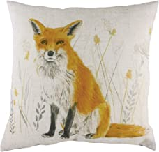 Evans Lichfield Fox Repeat Cushion Cover, White, 43 x 43cm