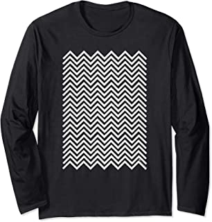 Twin Peaks Black and White Chevron Long Sleeve T-Shirt