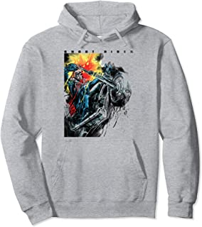 Ghost Rider Motorcycle Poster Pullover Hoodie