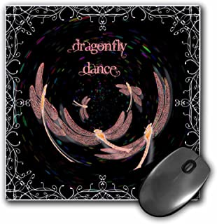 3dRose LLC 8 x 8 x 0.25 Inches Dragonfly Dance Orb Mouse Pad (mp_14326_1)