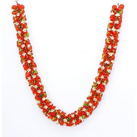 Daedal crafters Artificial Jasmine Flower Garland (Orange)