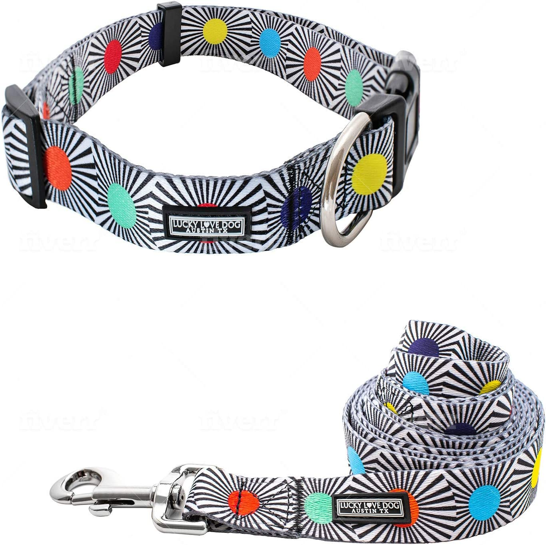 Lucky Love Dog Collar Selling rankings Leash Premi Miami Mall Medium Large Set Small