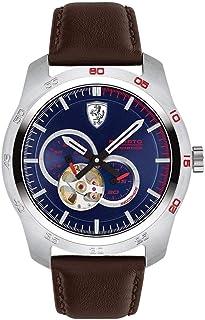 Scuderia Ferrari Men'S Blue Dial Brown Leather Watch - 830443