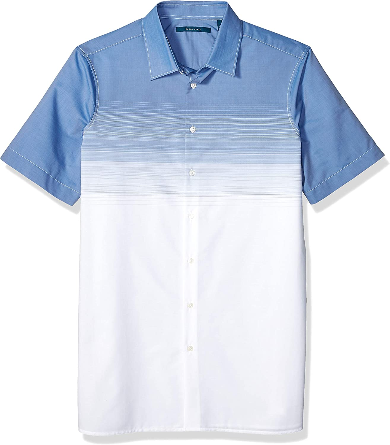 Perry Ellis Men's Big and Tall Ombre Stripe Shirt