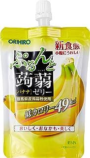 Orihiro Purun To Konnyaku Jelly Banana Pouch, Banana, 130 g